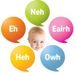 Babytaal met vijf woorden